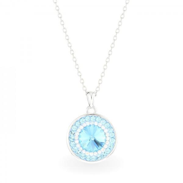 Light Blue with Aqumarine Orbit Necklace SIAM