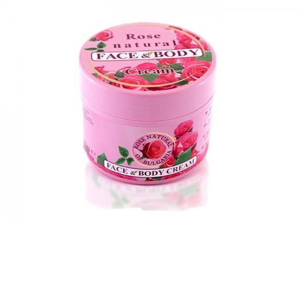Arc- és testkrém Rose Natural